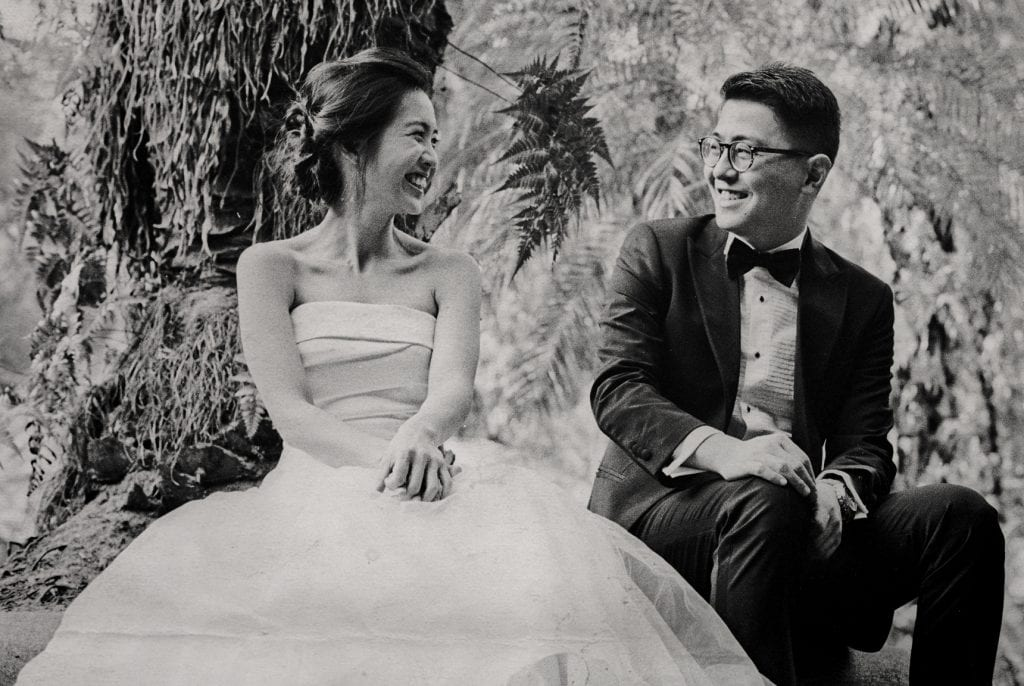 Roy & Ying's Pre-Wedding Photography by Film Wedding Photographer Brian Ho from thegaleria / Singapore Botanic Gardens